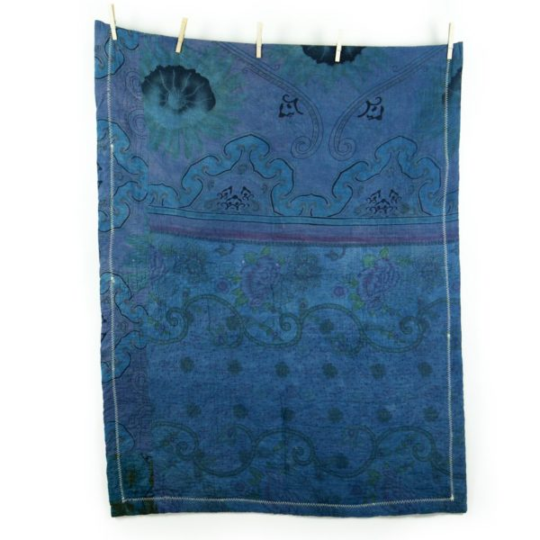 Kantha Mini Fuzz – Blue Rose 1